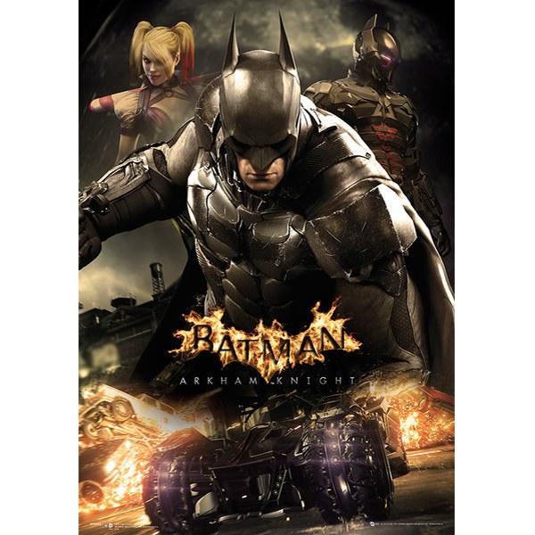 DC Comics Batman Arkham Knight Battle - 19 x 26 Inches Metallic Poster