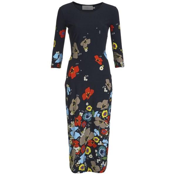 Preen by Thornton Bregazzi Women's Printed Jersey Midi Dress - Poppy Flowers
