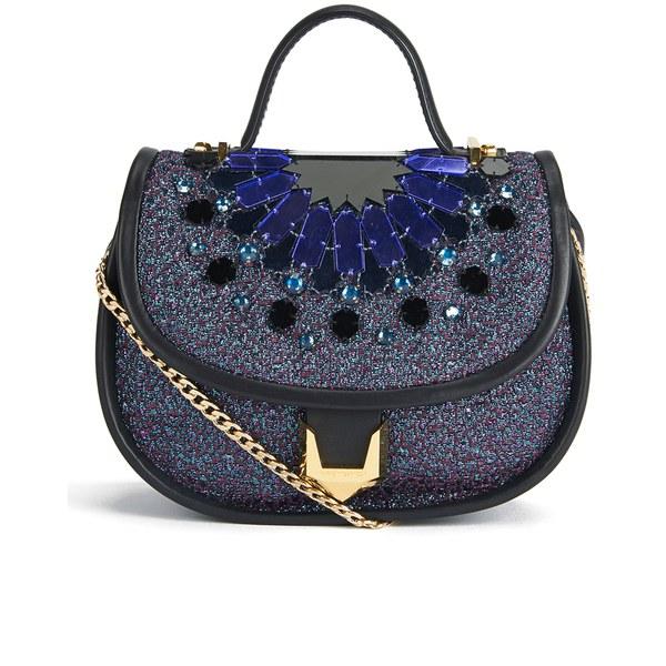 Matthew Williamson Women's Embellished Micro Satchel Bag - Navy/Multi