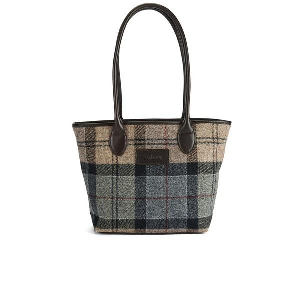 Barbour Dee Tartan Handbag Winter Image 1