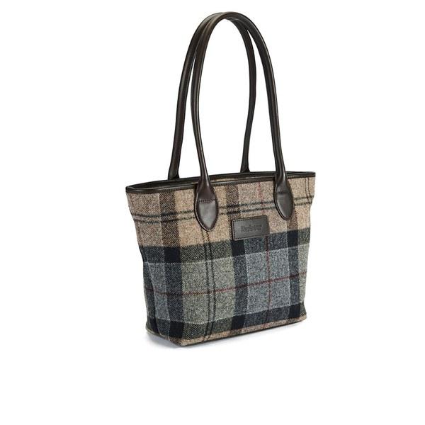 Barbour Dee Tartan Handbag Winter Image 2
