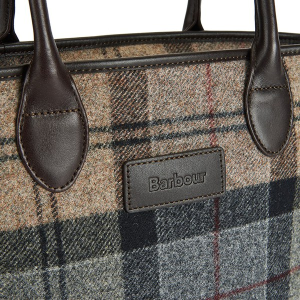 Barbour Dee Tartan Handbag Winter Image 3
