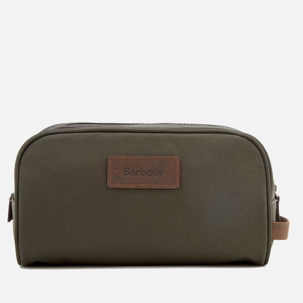 Barbour Men's Drywax Wash Bag - Olive