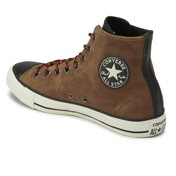 d2446bd7721f switzerland converse mens chuck taylor all star suede leather hi top  trainers cashew ecbdd 8080b
