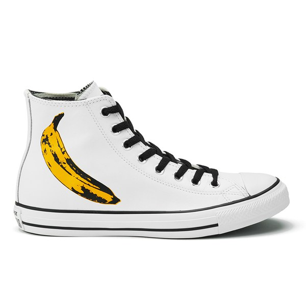 9d79775c6bf5 Converse Men s Chuck Taylor All Star Warhol-Banana Hi-Top Trainers - White