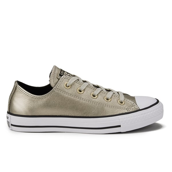 34a394e7c401 Converse Women s Chuck Taylor All Star Shift Leather Ox Trainers - Portrait  Grey  Image 1