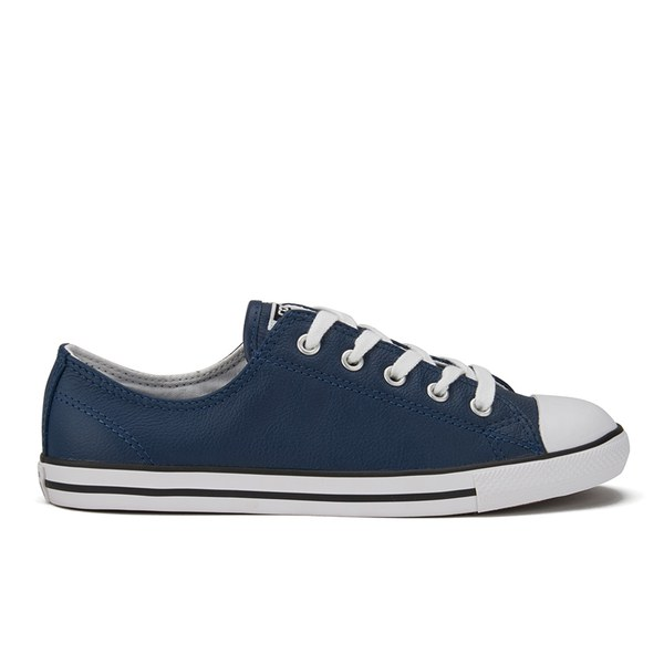 ec0dccc036eb Converse Women s Chuck Taylor All Star Dainty Seasonal Leather Ox Trainers  - Nighttime Navy White