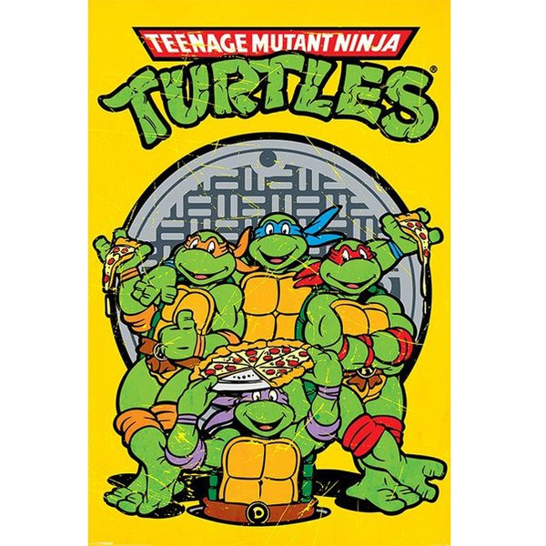 Teenage Mutant Ninja Turtles Retro - 24 x 36 Inches Maxi Poster