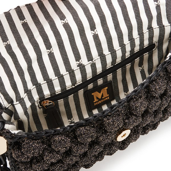 21367723d081 M Missoni Women s Raffia Shoulder Bag - Black  Image 4