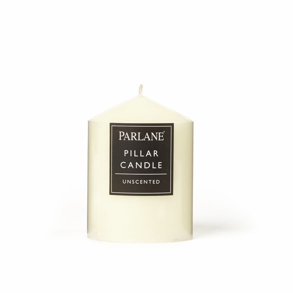 Parlane Unscented Pillar Candle - Ivory (102x76mm)