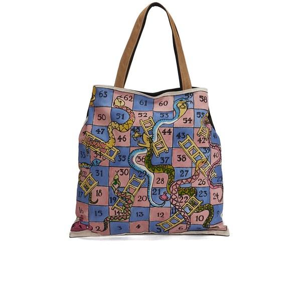 54af16f4478 Vivienne Westwood Women's Snake Board Game Shopper Bag - Blue: Image 1