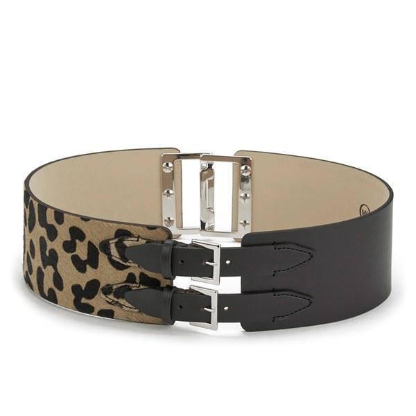 McQ Alexander McQueen Women's Back Buckle Belt - Leopard