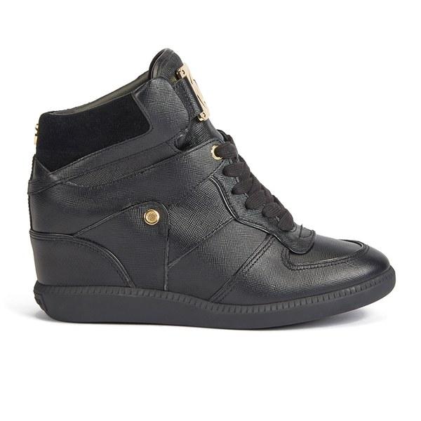MICHAEL MICHAEL KORS Women's Nikko Leather/Suede Hi-Top Trainers - Black