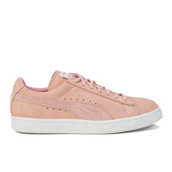 Puma Women s Suede Classic Low Winter Trainers - Coral  Image 1 8e6ee2fa3779