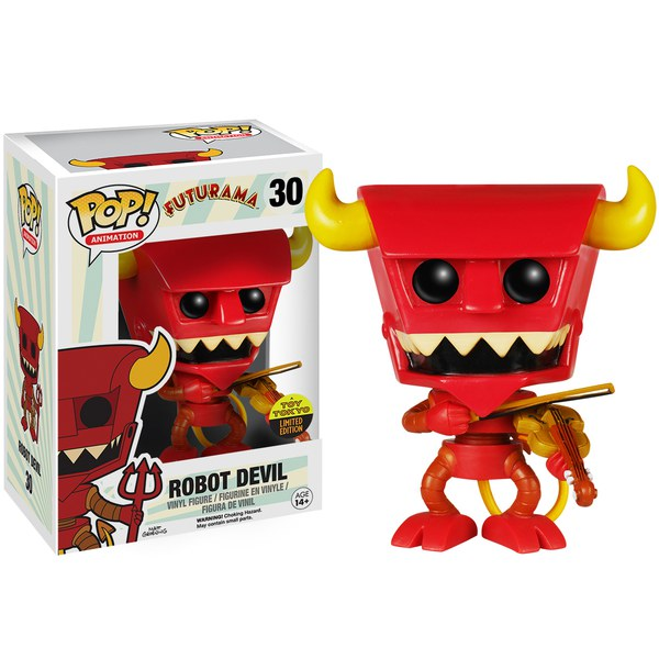 Futurama Robot Devil With Violin SDCC Exclusive Pop! Vinyl Figure