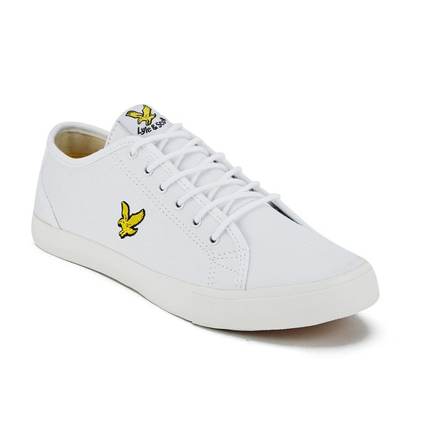 8b35cd04d579 Lyle   Scott Men s Teviot Twill Trainers - White Clothing