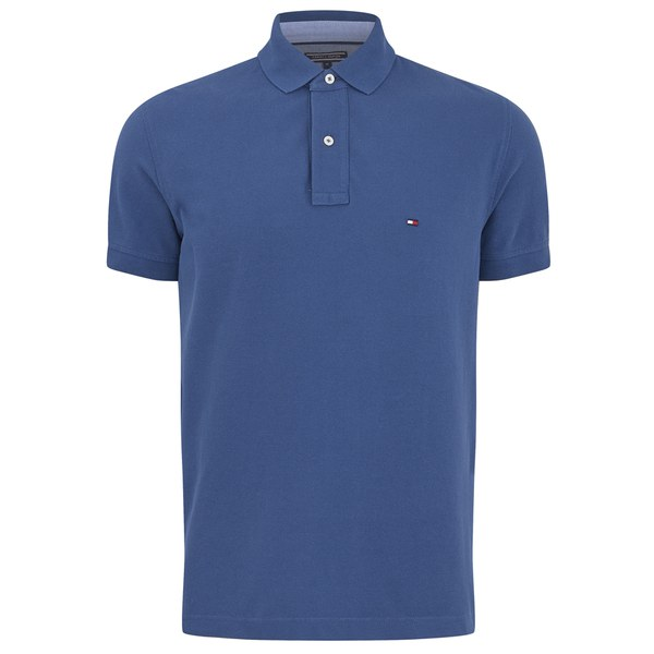 Clearance Supply Buy Cheap Exclusive Pique Logo Polo Shirt - Blue Tommy Hilfiger gzkElNs