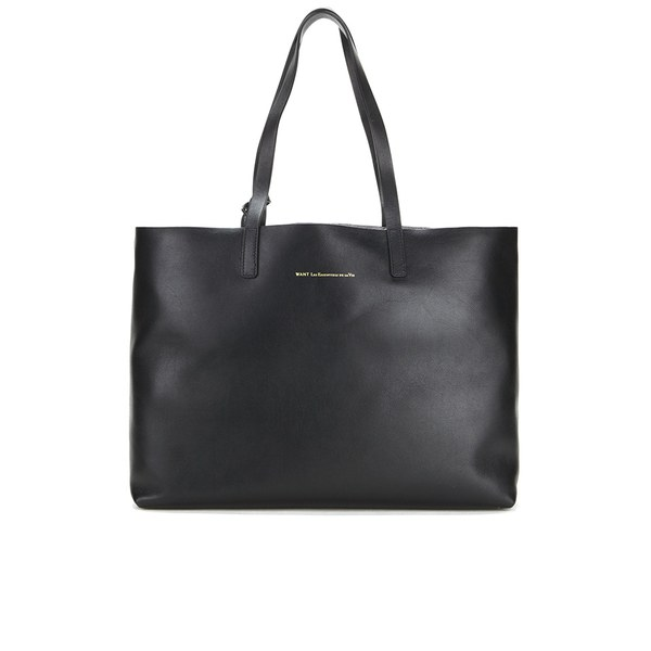 WANT LES ESSENTIELS Women's Strauss Horizontal Tote Bag - Jet Black/Metallic