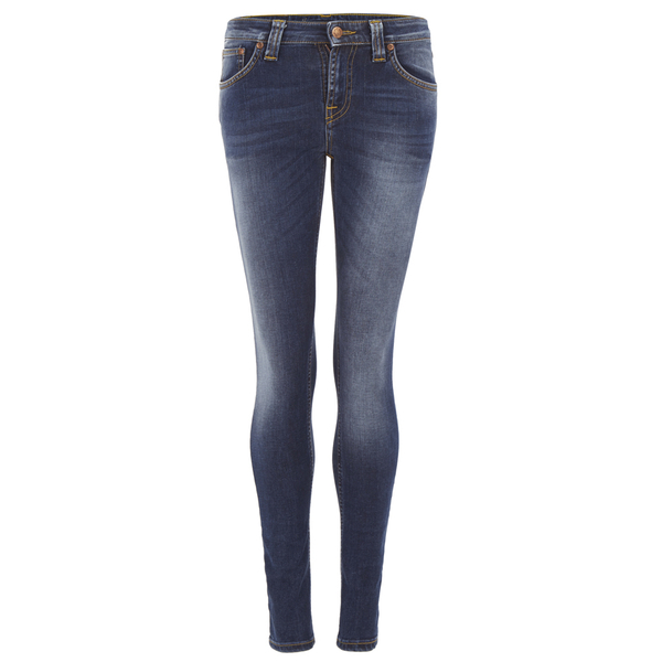 Nudie Jeans Women s Skinny Lin Denim Jeans - Compact Cloud - Free UK ... 78e38c683c