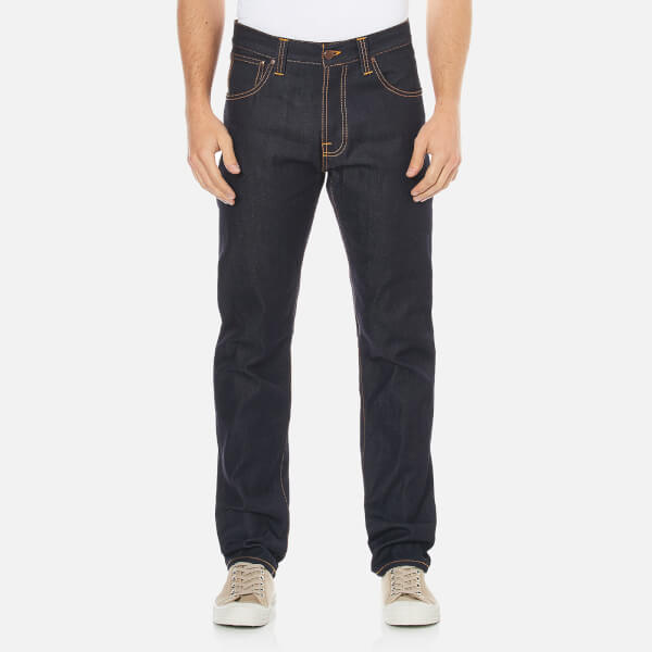 Nudie Jeans Men's Steady Eddie Regular/Straight Fit Tapered Leg Jeans - Dry Compact