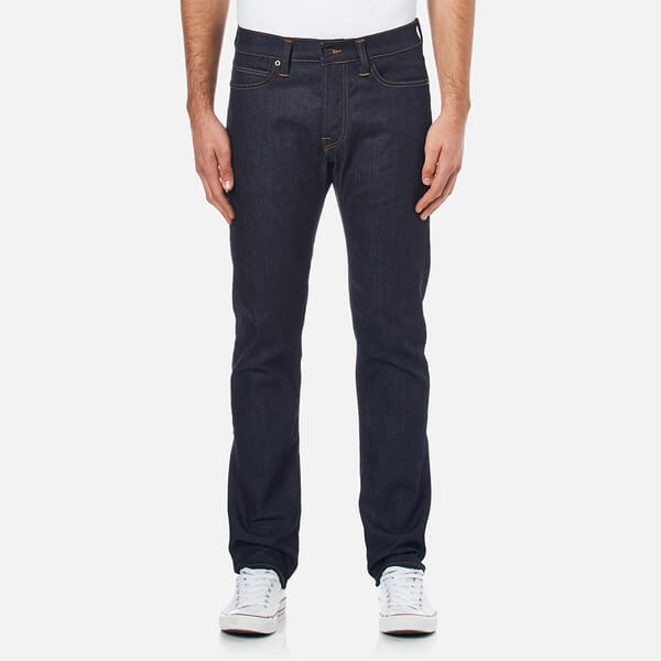 Edwin Men's ED75 Mid Rise Tapered Unwashed Denim Jeans - Dark Blue