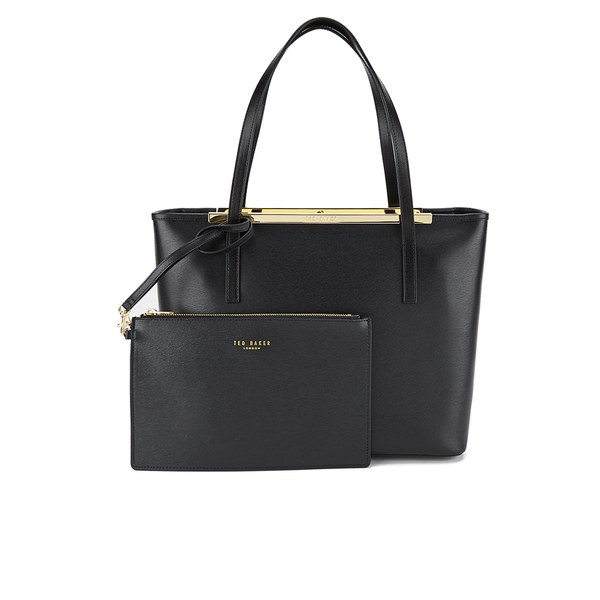 5c8572d400a Ted Baker Women's Isbellz Zip Top Crosshatch Shopper - Black: Image 1