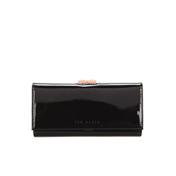 3efa8823feb Ted Baker Women's Kodee Crystal Top Patent Matinee Purse - Black: Image 1