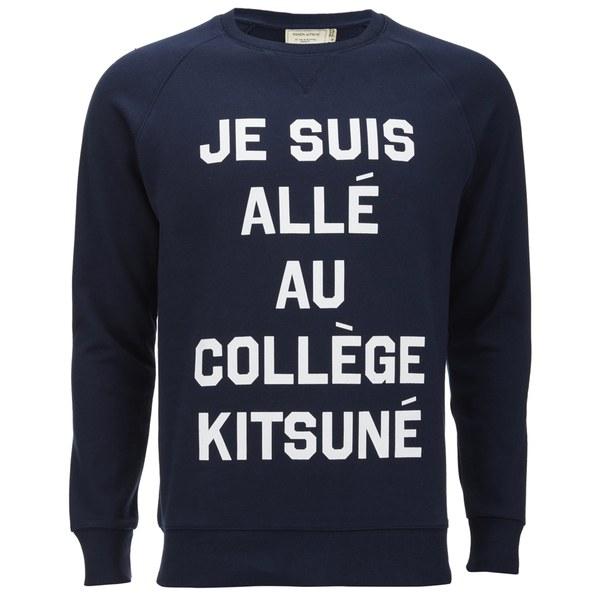 Maison Kitsuné Men's Je Suis Alle Sweatshirt - Navy