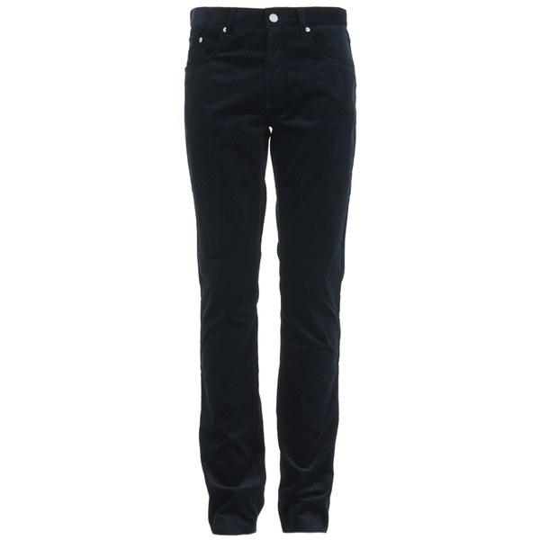 Maison Kitsuné Men's Corduroy Slim Cut Trousers - Anthracite