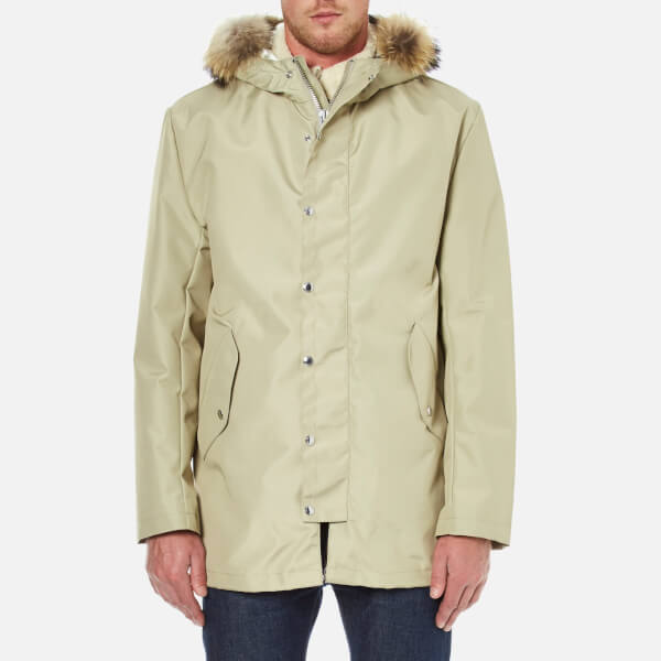 Maison Kitsuné Men's Waterproof Parka - Sand