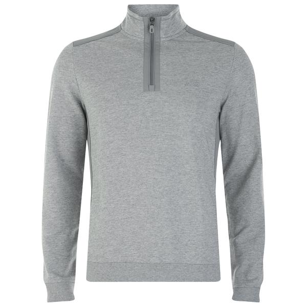BOSS Green Men's Sweatshirt 1 Nylon Combi Hoody - Grey