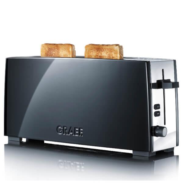 Graef Long Slot 2 Slice Toaster Black Gloss Homeware