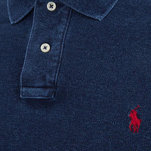 polo ralph lauren mens slim fit polo shirt dark indigo image 3 - Ralph Lauren Indigo