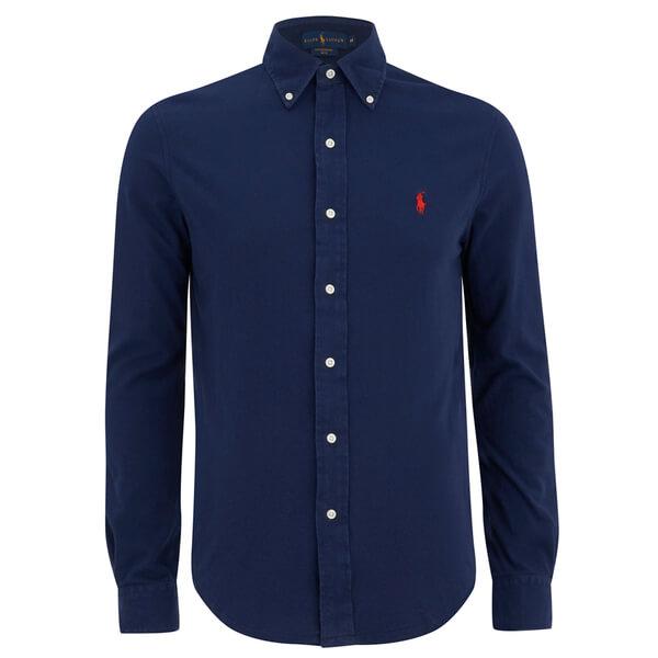 Ralph Lauren Button-down Collar Cotton-piqué Shirt - Navy RoSXTq