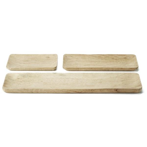 Nkuku Kadiri Wooden Tray Set: Image 1