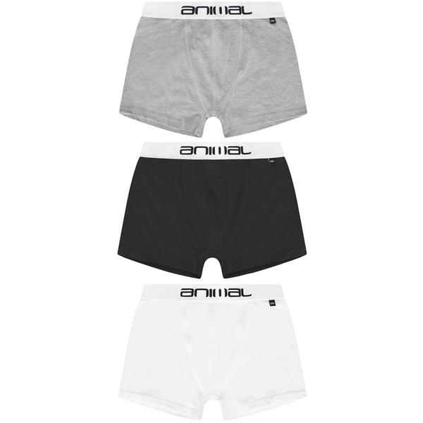 Animal Men's Asta 3-Pack Boxers - Black/White/Grey