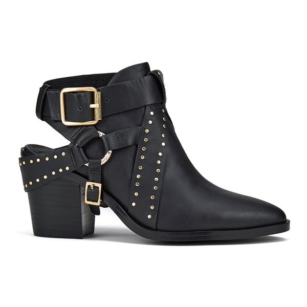 Senso Women's Owen I Leather Heeled Ankle Boots - Ebony