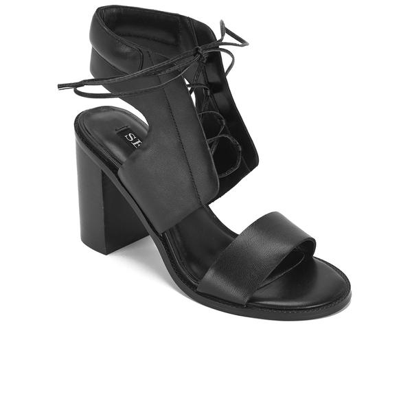 a8c31959951 Senso Women s Valleri VI Leather Lace-up Heeled Sandals - Ebony  Image 5