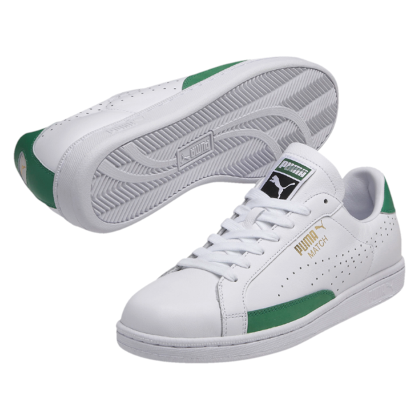Puma Men's Match 74 Trainers - White/Green: Image 1