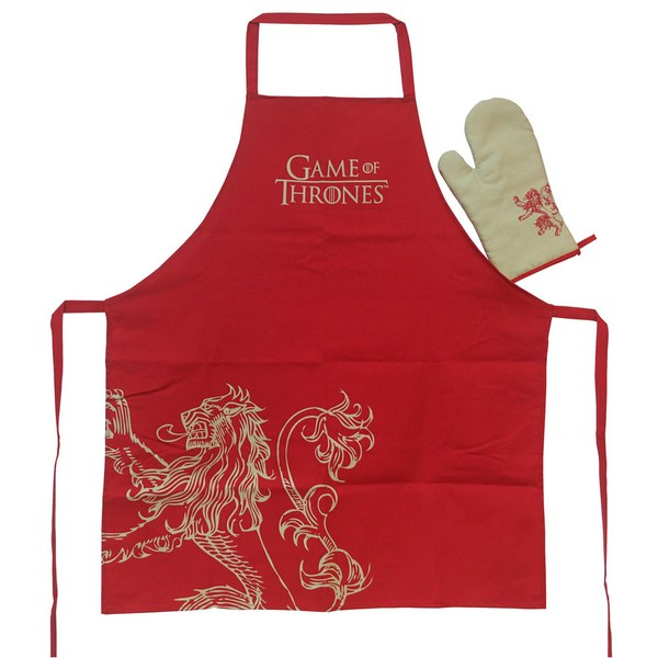 Game of Thrones Lannister Apron with Oven Mitt