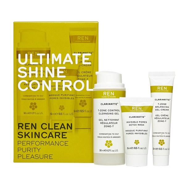 REN Ultimate Shine Control Regime coffret pour peau mixte