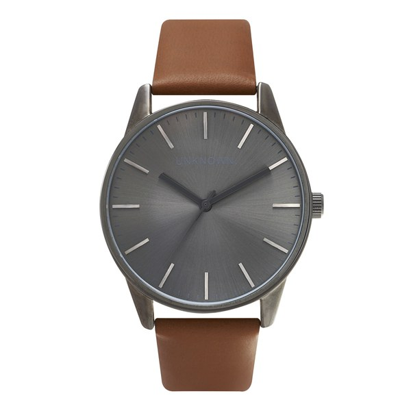 UNKNOWN Men's The Classic Watch - Tan/Gunmetal