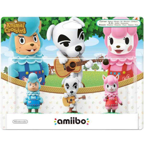 Animal Crossing Triple Pack (K.K. Slider + Cyrus + Reese) amiibo (Animal Crossing Collection)