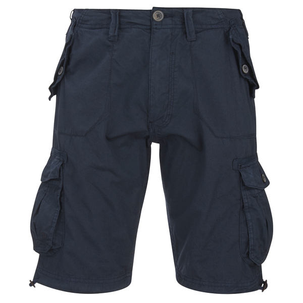 Brave Soul Men's George Cargo Shorts - Navy