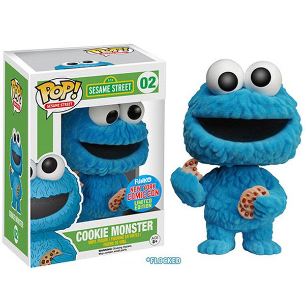 NYCC Sesame Street Flocked Cookie Monster Exclusive Pop! Vinyl Figure