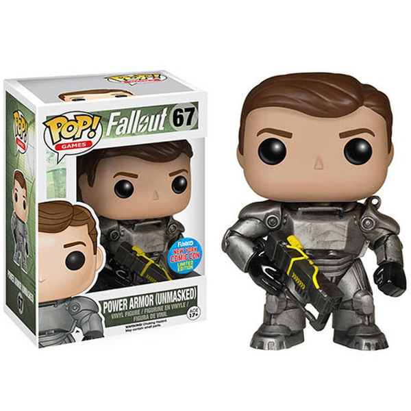 Nycc Fallout Power Armour Unmasked Exclusive Pop Vinyl