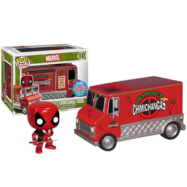 NYCC Marvel Deadpool Chimicanga Red Truck Exclusive Pop! Vinyl Figure