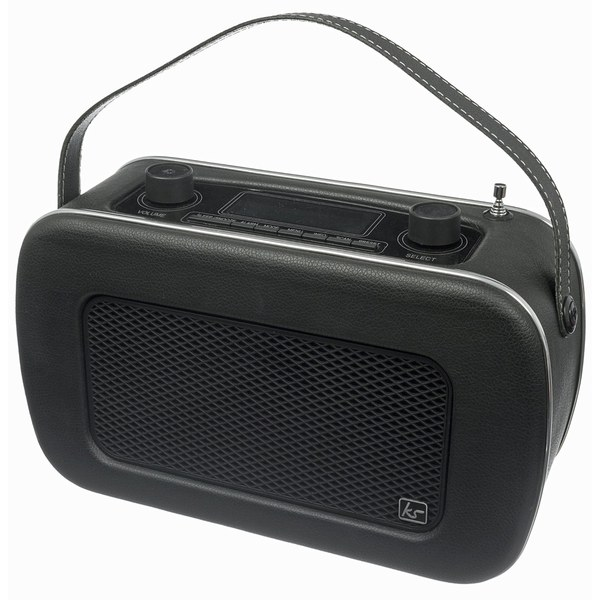 Kitsound Jive Retro Portable DAB Radio with Alarm Clock - Black