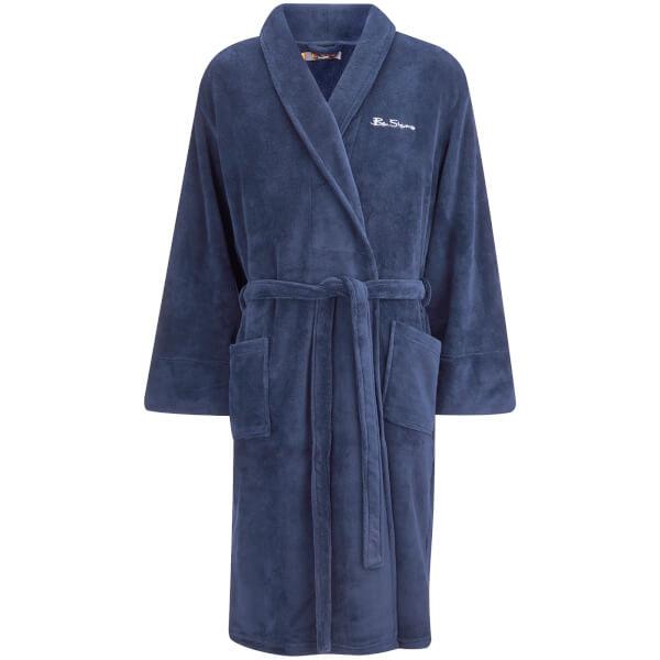 Ben Sherman Men\'s Fleece Robe - Navy Clothing | Zavvi