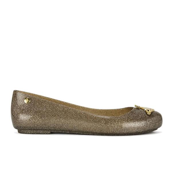 b3ae1d3f48d Vivienne Westwood for Melissa Women's Space Love Ballet Flats - Gold  Glitter Orb: Image 1